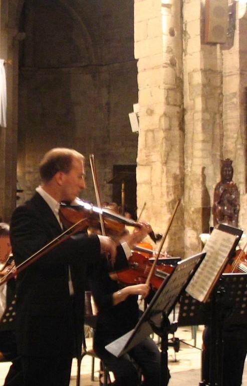 Eric Blanchon Professeur de violon- Membre d'honneur de l'association.