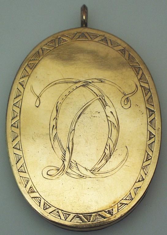 Goldmedaillon aus Lippe - Detmold