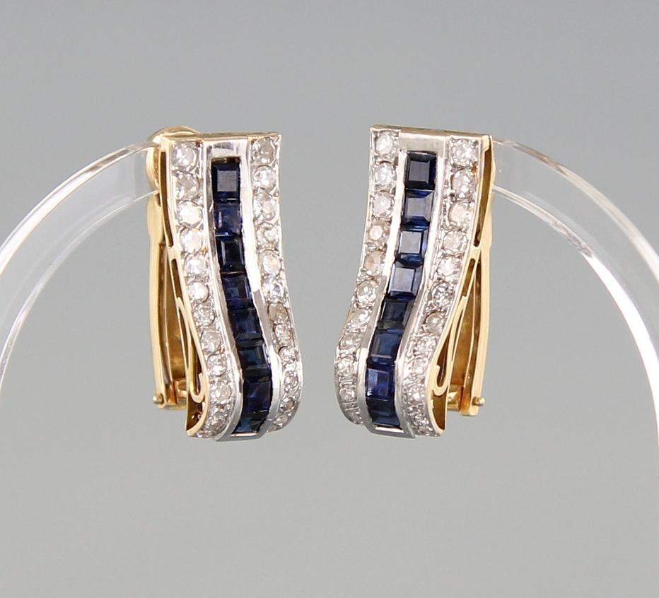 Ohranhänger Diamant & Saphir