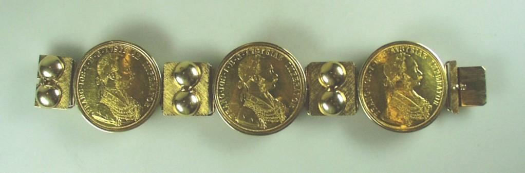 Goldarmband mit Goldmünzen aus Osnabrück
