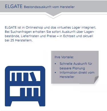 Elgate Schnittstelle