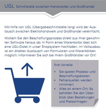 UGL Schnittstelle für Handwerker Software