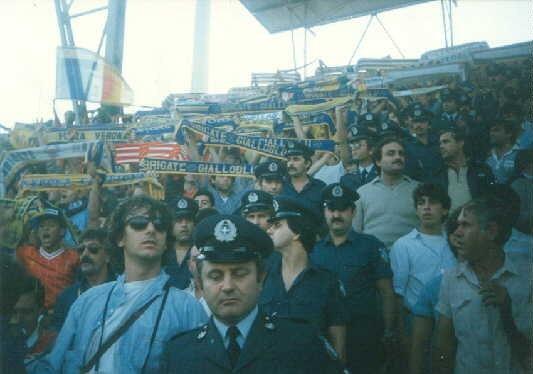 BRIGATE GIALLOBLU A SALONICCO IN COPPA DEI CAMPIONI 02-10-1985