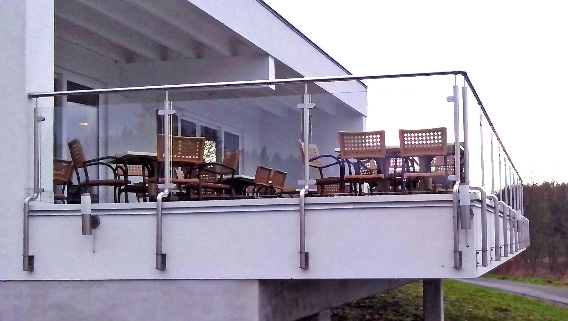 Edelstahlgeländer - Gasthaus Talsperre Zeulenroda