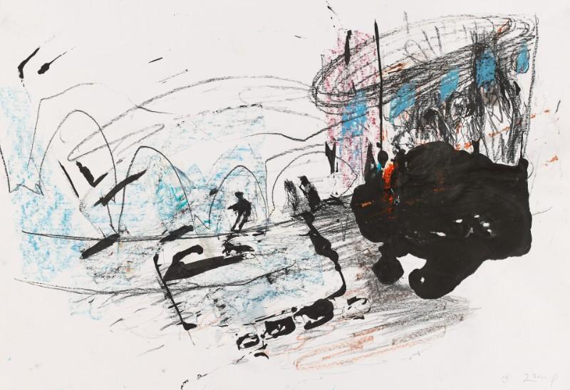 Zeichnung nach Moryama | 2014 | 44 x 64 cm