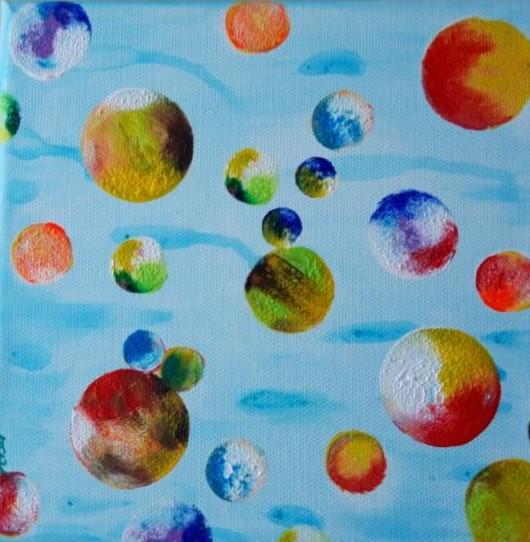 Bild Nr. 316, Format 20/20, Spielbälle der Fische, Preis Fr. 85.00