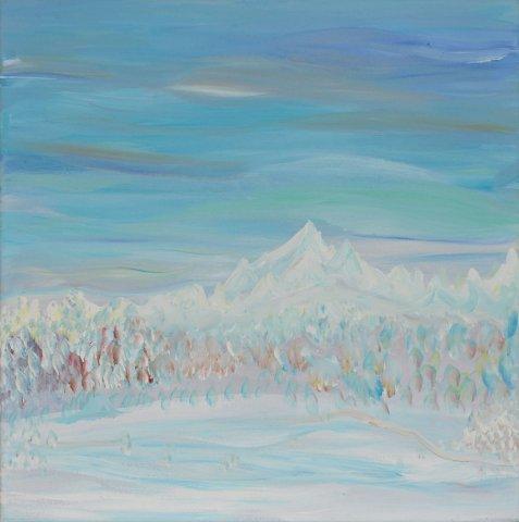 Bild Nr. 56, Format 40/40, Winterlandschaft, Preis Fr. 190.00