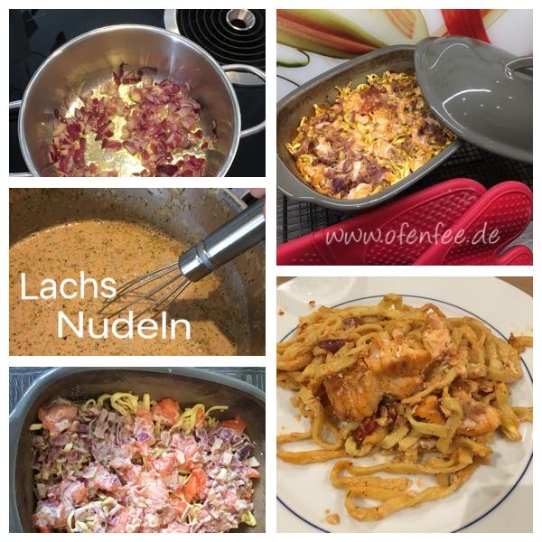 Lachs-Sahne Nudeln in der Ofenhexe von Pammpered Chef