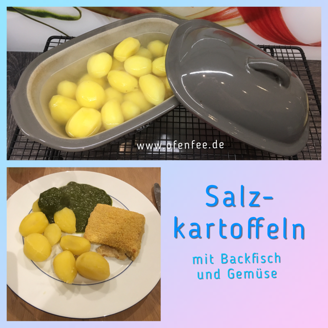 Salzkartoffeln mit Backfisch und Gemüse im Zaubermeister und Ofenzauberer von Pampered Chef