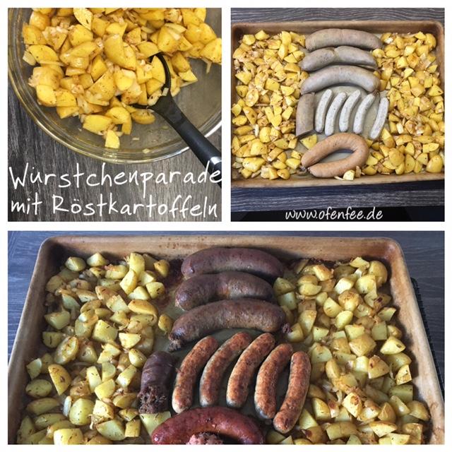 Leberwurst und Bratwurst Röstkartoffeln vom großen Ofenzauberer von Pampered Chef
