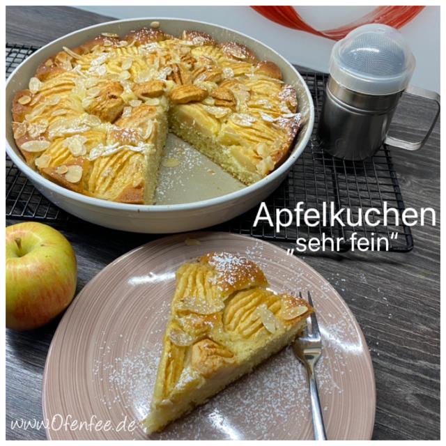 Apfelkuchen sehr fein aus der runden Ofenhexe von Pampered Chef