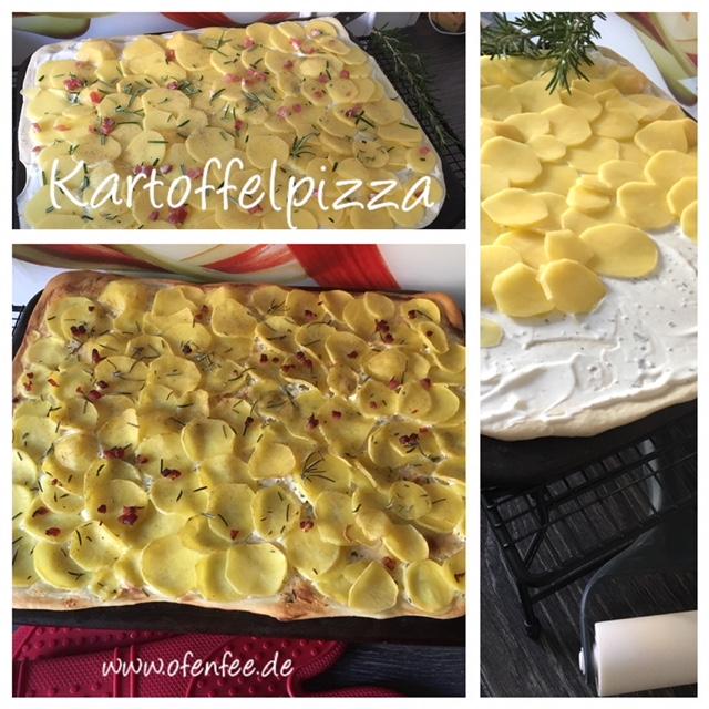 Kartoffelpizza auf dem Zauberstein von Pampered Chef