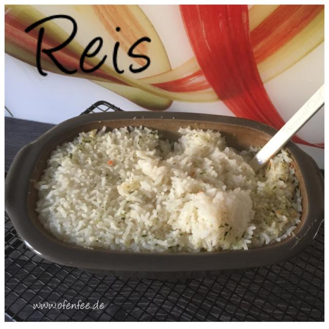 Reis aus dem Backofen - gegart im kleinen Zaubermeister Lily von Pampered Chef
