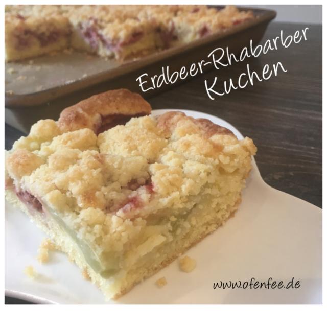 Erdbeer-Rhabarber Kuchen gebacken auf dem großen Ofenzauberer James von Pampered Chef