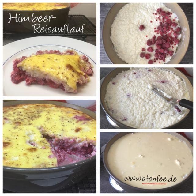 Himbeer-Reisauflauf aus der Stoneware rund von Pampered Chef