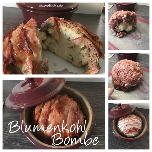 Blumenkohl Bombe Low Carb Pampered Chef runder Zaubermeister