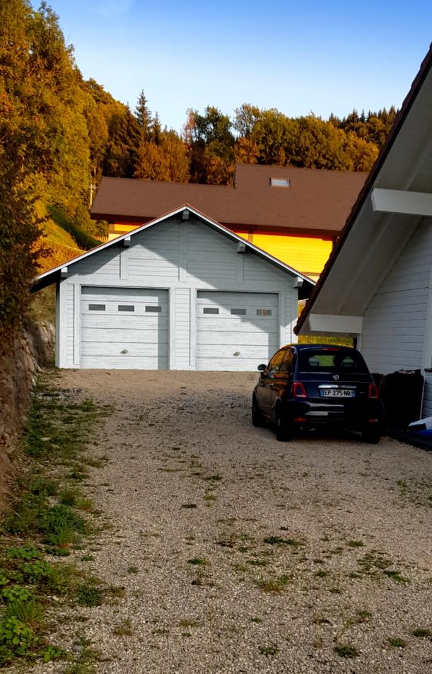garage en bois, et chalet, cluses, ocoeurdesplans