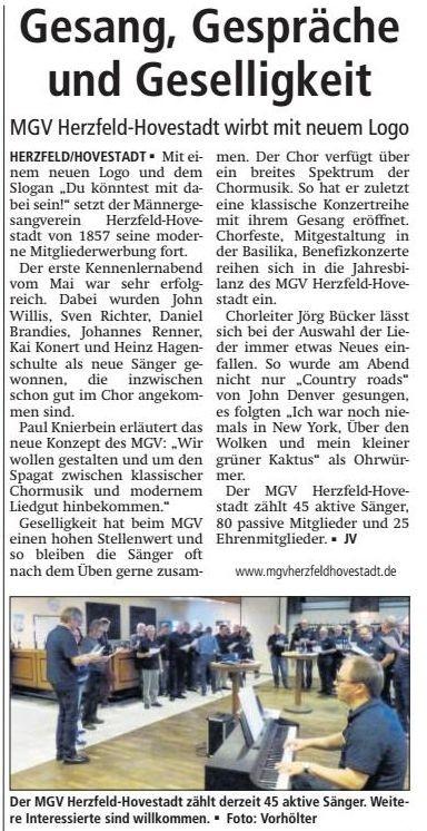 Bericht Soester Anzeiger vom 06.11.2015