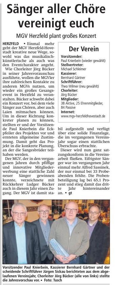 Bericht Soester Anzeiger vom 23.02.2018