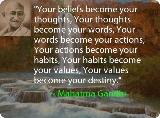 Your Beliefs become your Thoughts #MahatmaGandhi
