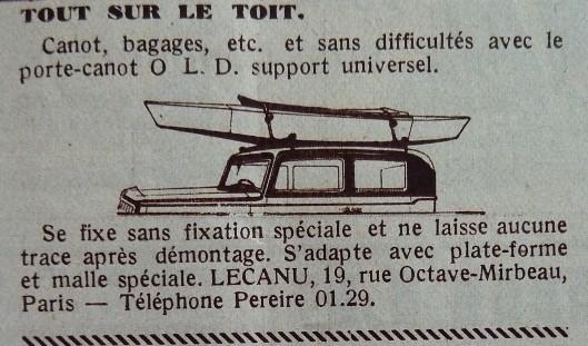galerie pour canoë Lecanu (in revue TCF 1935)