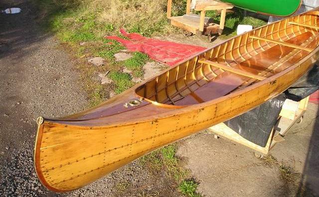 Canadian Canoe Co, rib and batten (photo R.C. Cross)