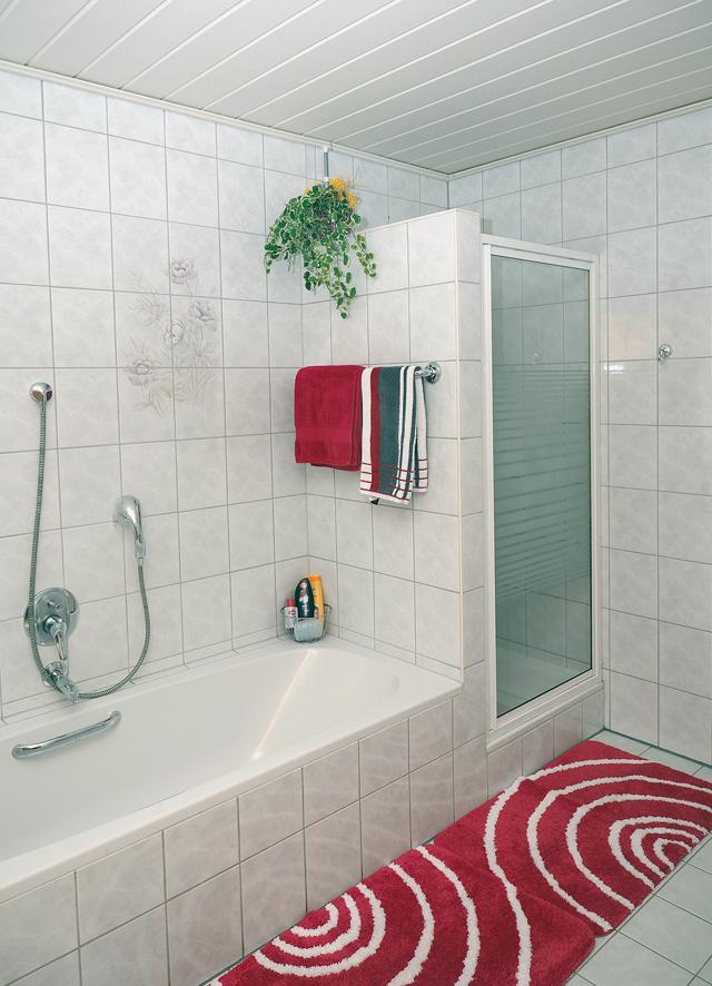 Badezimmer mit Dusche/WC und Badewanne