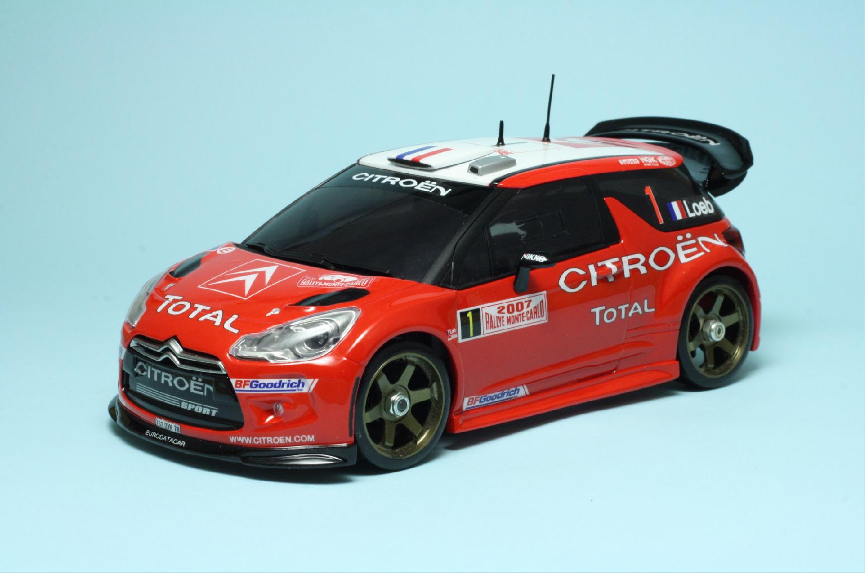 GHA002 Aero Parts Set Ver.1 for Citroen DS3 WRC 2011 - GARAGE HIRO ...