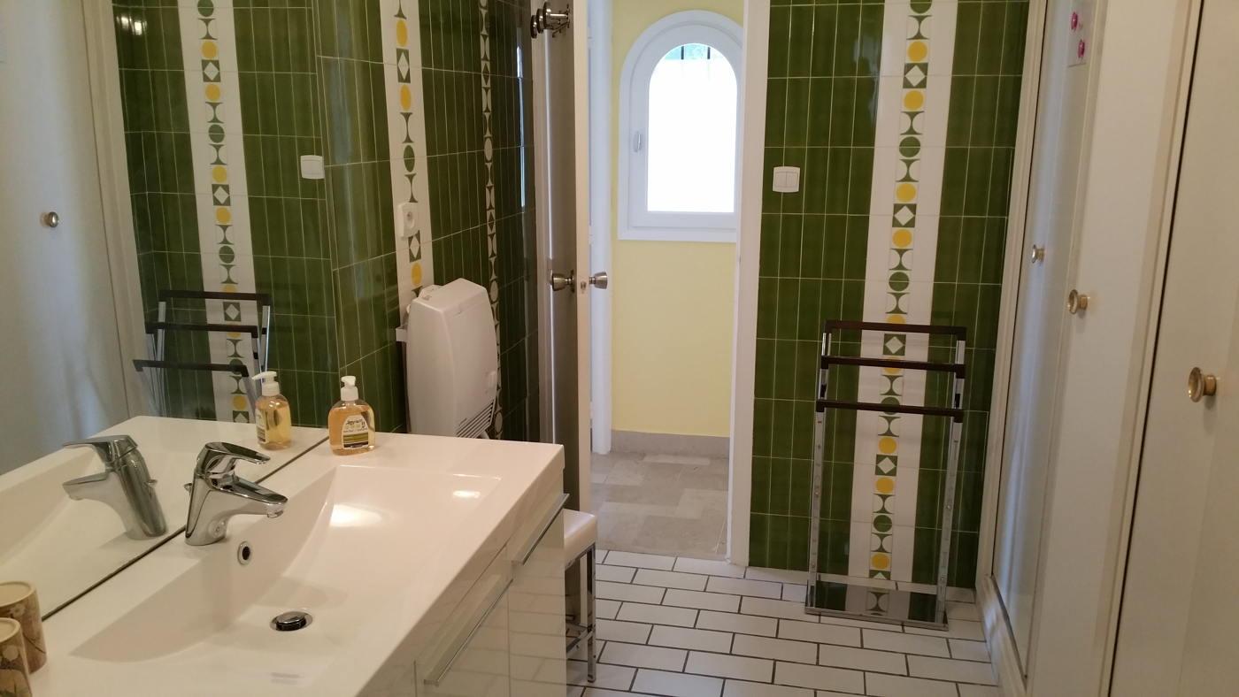 La salle de bain de la chambre Pradets