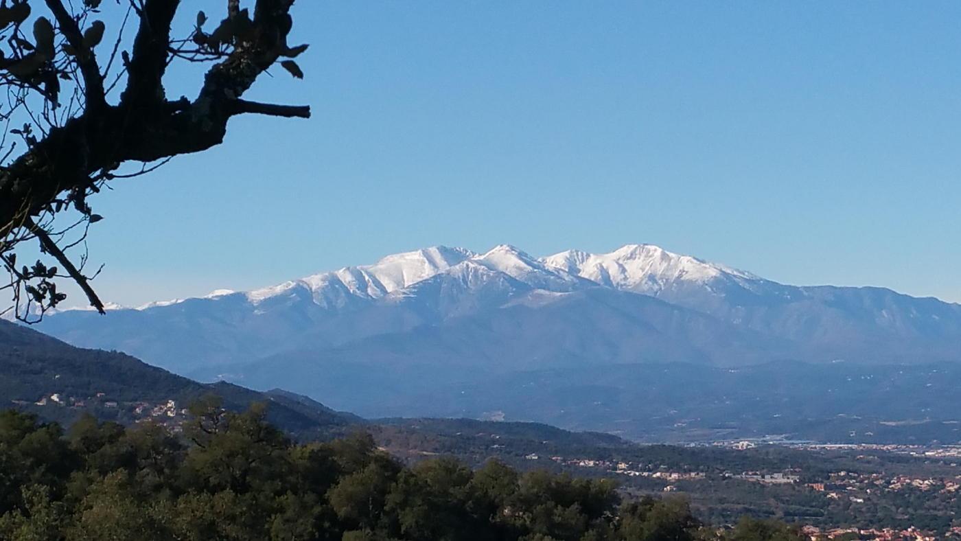 Vue sur le Massif du Canigou
