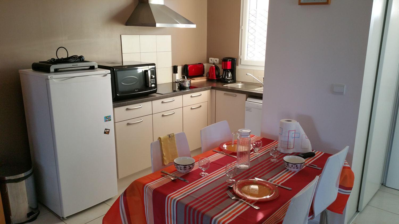Cuisine de l'hébergement Micocoulier à Sorède proche Espagne