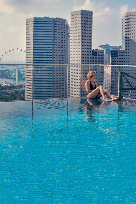Pool views at Andaz Hotel Singapore | Best Places to Visit in Singapore in 3 Days | Things to do in Singapore | #AndazSingapore #Andaz #singapore #SG #travel
