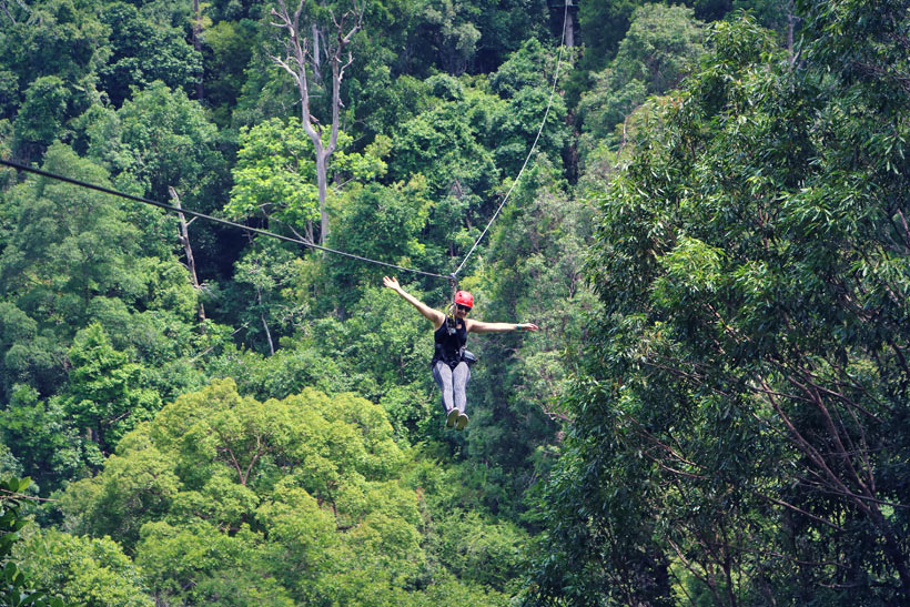 Zipline Canopy Course in Langkawi Island, Malaysia - 10 Luxury and Adventurous Things to do | via @Just1WayTicket
