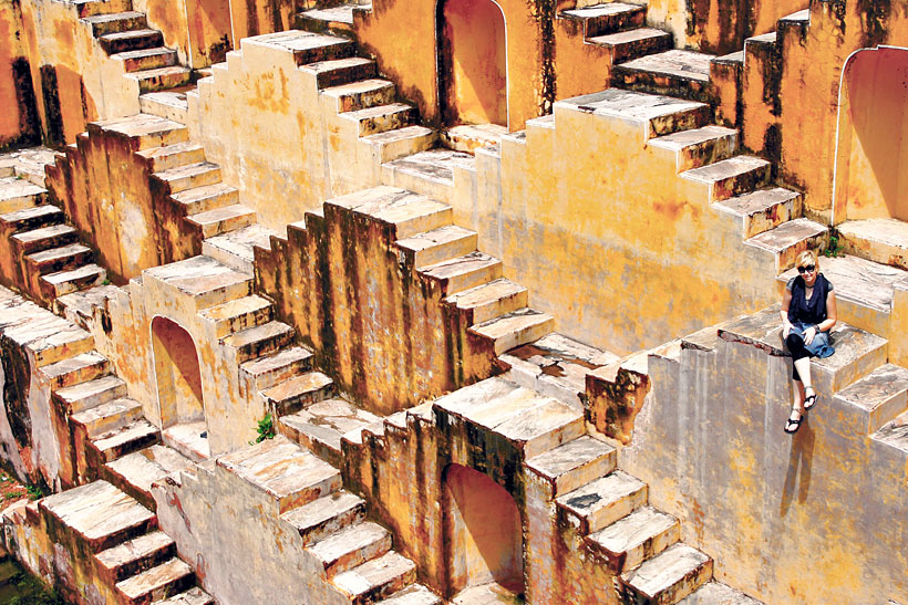Chand Baori Stepwell near Jaipur | Best Places To Visit In India Plus Things To Do | via @Just1WayTicket | Photo © JustOneWayTicket