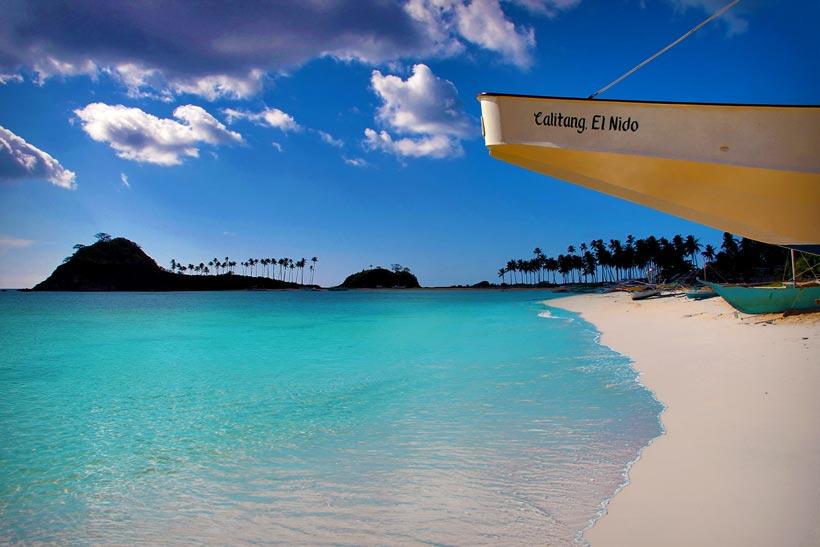 Beautiful Calitang Beach, North of El Nido, Palawan, Philippines 2013 © Sabrina Iovino | JustOneWayTicket.com