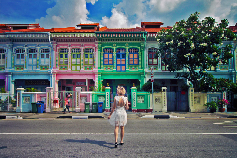 Colorful houses in Joo Chiat | Best Places to Visit in Singapore in 3 Days | Things to do in Singapore | #singapore #SG #travel #joochiat #colors #colours #colourful #colorful