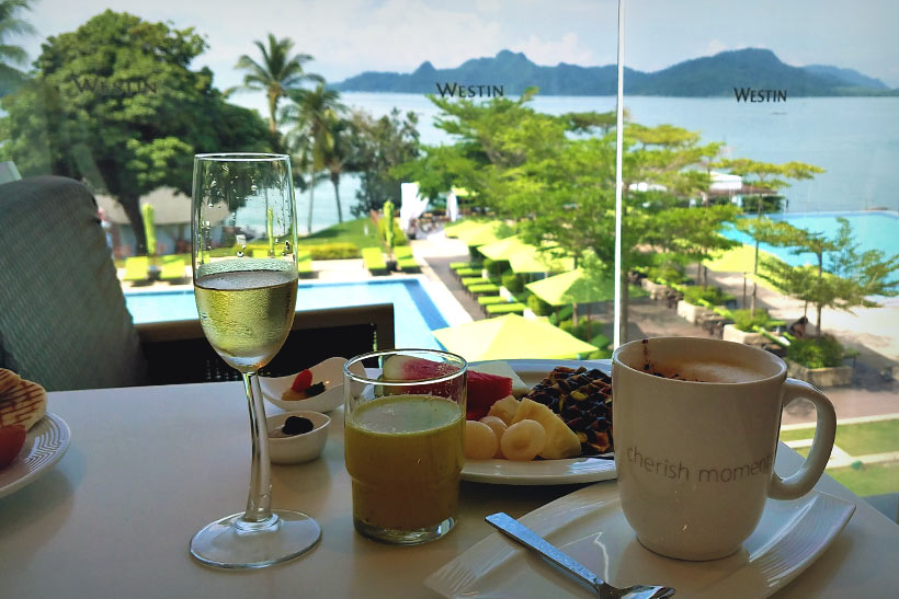 Breakfast with a view at the Westin Resort and Spa in Langkawi Island, Malaysia - 10 Luxury and Adventurous Things to do | via @Just1WayTicket