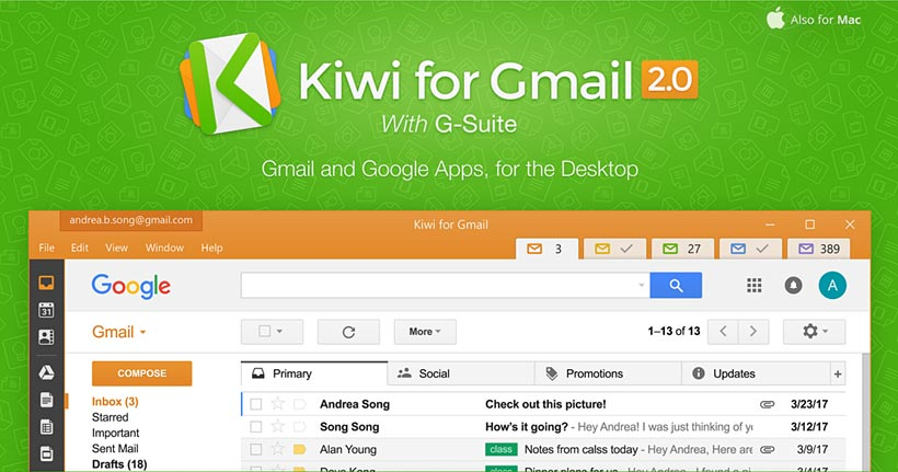 Review: Kiwi for Gmail