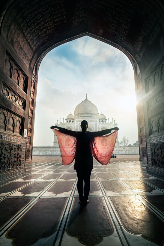 Angels at the Taj Mahal in Agra | Best Places To Visit In India Plus Things To Do | via @Just1WayTicket | Photo © byheaven/Depositphotos
