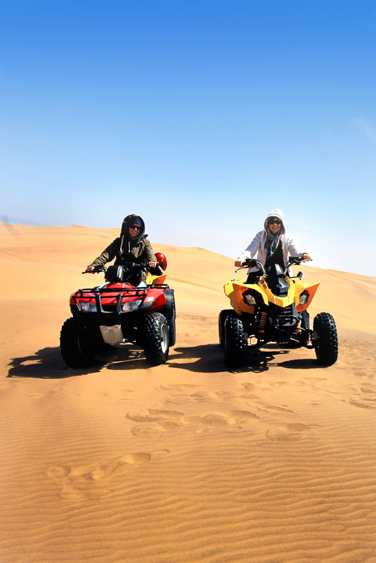 ATV Desert Adventure in Swakopmund | Travel Guide To Namibia - Things To Do And Places To Stay | via @Just1WayTicket