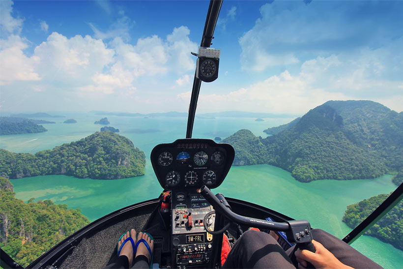 Helicopter Ride in Langkawi Island, Malaysia - 10 Luxury and Adventurous Things to do | via @Just1WayTicket