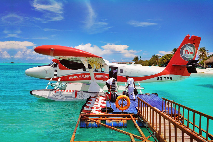 Seaplane in the Maldives to Lux* Resort 5 Star - South Ari Atoll Maldives - A Paradise for Instagrammers | Hotel Review by JustOneWayTicket