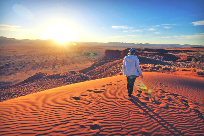 Travel Guide To Namibia - Things To Do And Places To Stay | Red colored sand dunes, a diversity of wildlife and endless horizons... Namibia's unique landscapes will make you feel like you landed on a different planet. | via @Just1WayTicket