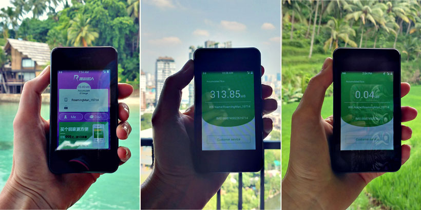 Testing the RoamingMan WiFi device in the islands of the Philippines, Bangkok and in Bali.