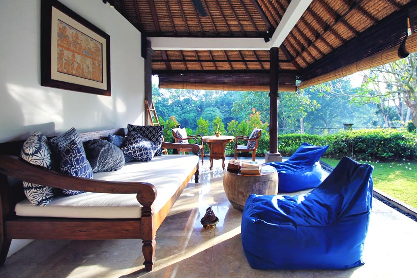 Lounging Area | The Sukhavati Bali - How 10 Days in an Ayurvedic Wellness Yoga Retreat Reset my Body, Mind and Soul | A Holistic Experience you won't forget... | via @Just1WayTicket