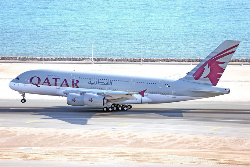Review: Qatar Airways Business Class A380 Doha to Atlanta Inaugural Flight | Photo: Qatar Airways | via @Just1WayTicket