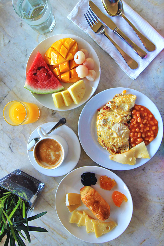 Breakfast at Amorita | A Hotel Review of Amorita Resort Bohol | via @Just1WayTicket © Sabrina Iovino