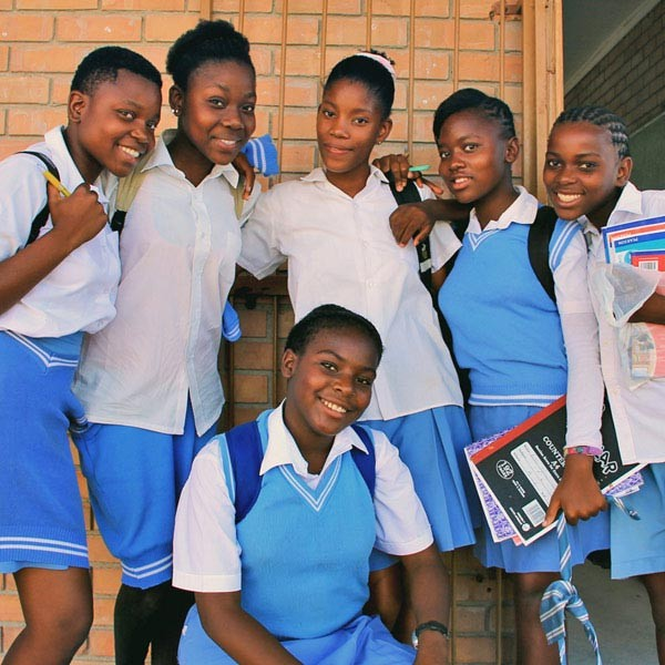 Teaching girls at a local school | Volunteering with Wildlife and Children in South Africa - My Enriching Experience | via @Just1WayTicket