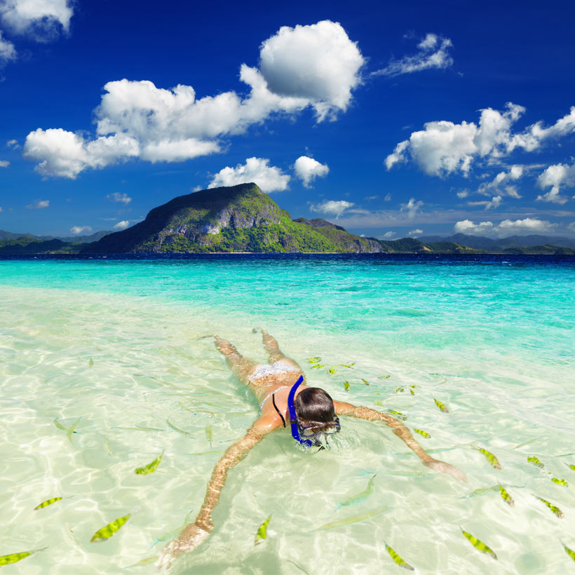 Snorkeling in El Nido, Palawan | Top 10 Things to do in the Philippines | via @Just1WayTicket