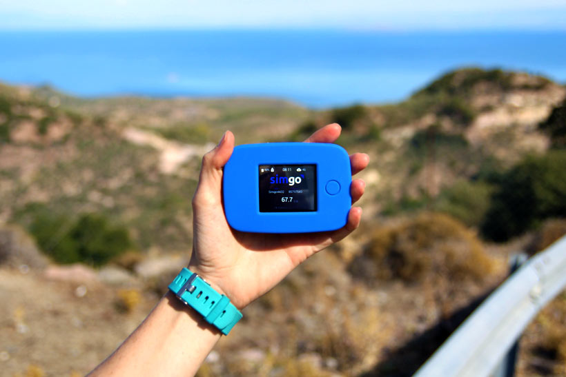 TEP Portable WiFi device while traveling in Lesvos Island Greece | via @Just1WayTicket